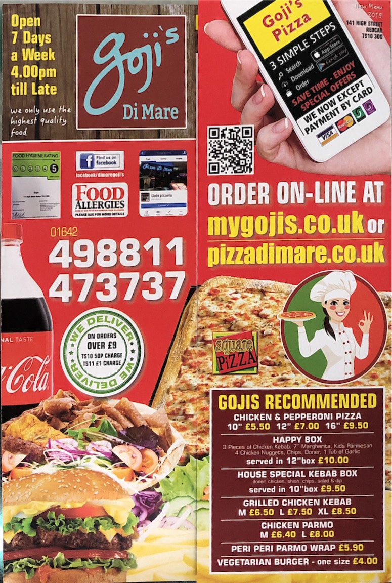 Gojis Di Mari Takeaway Online Ordering In Redcar