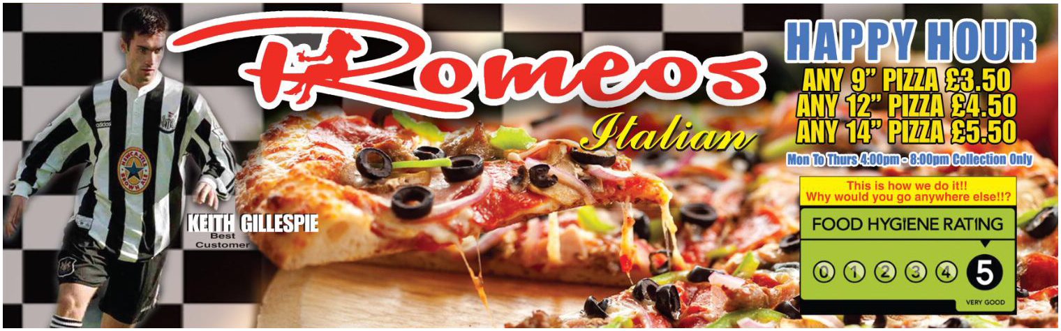 Romeos Pizza Romeos Pizza In Newcastle Takeaway Food To