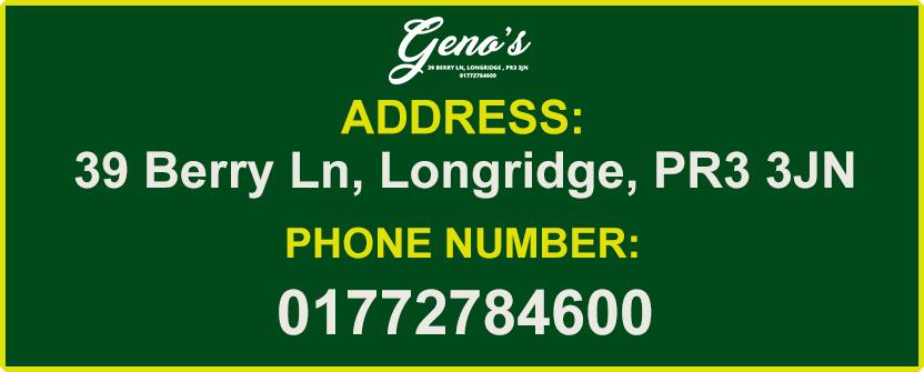 Genos Genos Longridge Takeaway Order Online