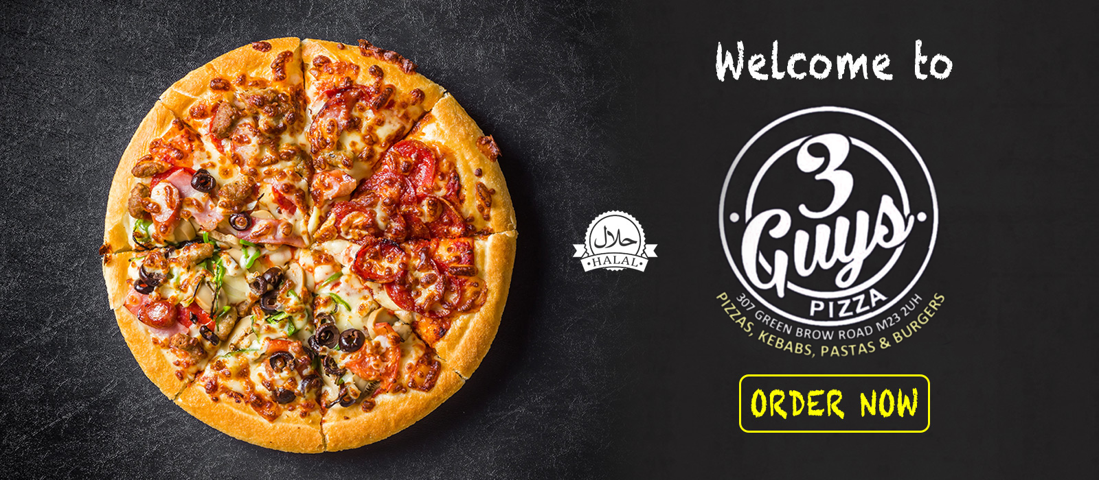 3 Guys Pizza Takeaway Order Online Manchester Pizzas