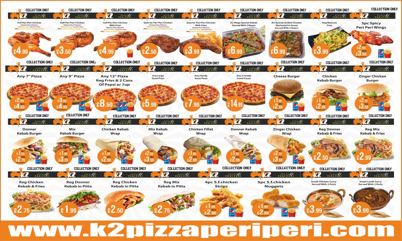 K2 Pizza Peri Peri K2 Pizza Peri Peri 39 Caldmore