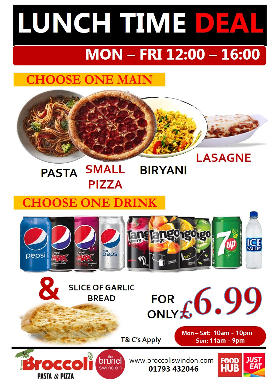 Broccoli Pasta And Pizza Broccoli Pizza And Pasta Swindon