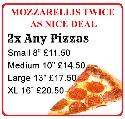 Mozzarellis Pizzas Mozzarellis Pizzas Ripon Takeaway