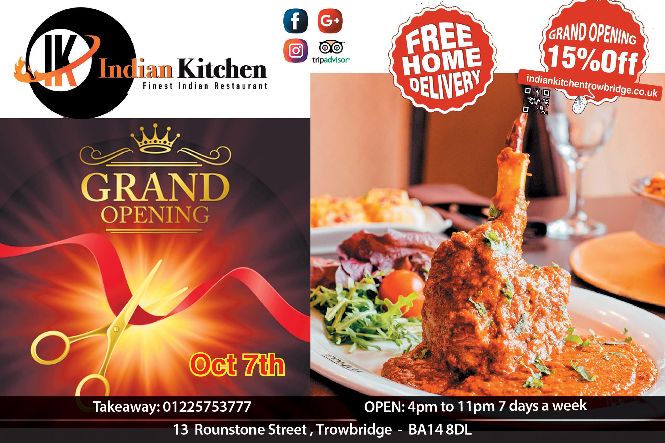 Indian Kitchen Indian Kitchen Trowbridge Takeaway Order